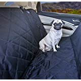Devoted Doggy Premium Dog Seat Cover with Hammock Feature - Waterproof Material for Back Seat Protection - Fits Cars, SUVs and Bench in Trucks - Dogs Love Unique Nonslip Backing with Seat Anchors