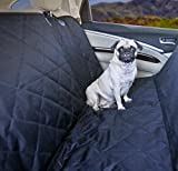 Devoted Doggy Black Premium Dog Seat Cover with Hammock Feature - Waterproof Material - Dog Seat Belt Included - Fits Cars, SUVs and Bench in Trucks - Dogs Love Unique Nonslip Backing with Seat Anchors