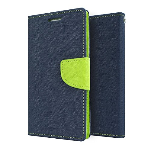STAPNA Luxury Mercury Diary Wallet Style Flip Case Cover For Samsung Galaxy S Duos 2 S7582 -(Blue)  available at amazon for Rs.245