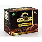 Ganoderma Coffee - Reishi Coffee Mix- Instant 2-in-1 Mushroom Coffee. All Natural Ganoderma Lucidum With Instant Coffee. A Non Sugar Dietary Supplement To Replace Regular Coffee - 30 sachets (Color: Brown)