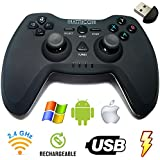 Matricom G-Pad EX Wireless USB Rechargeable Pro Game Pad Joystick w/3D Feedback