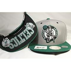 Mitchell & Ness Grey Tone Special Custom-made Boston Celtics Snapback w ... by Mitchell & Ness