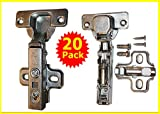 20 X Pack of Soft Slow Close Kitchen Cabinet Door Hinges