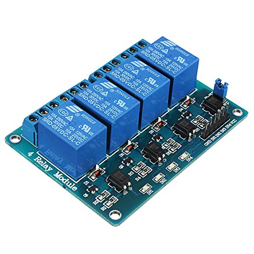 Kingso®5V 4-Channel Relay Module Low Strigger For Arduino Raspberry Pic Arm Dsp Avr Msp430