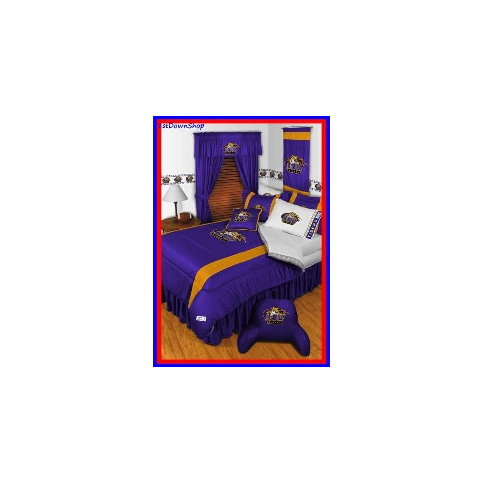 Louisiana State Lsu Tigers 4pc Sl Twin Comforter Sheets Bed Set On