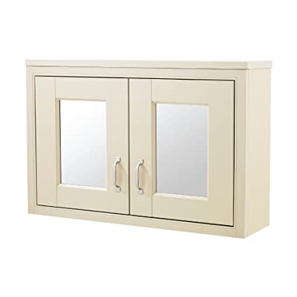 Old London Ivory 800mm Mirror Cabinet by John Louis Bathrooms