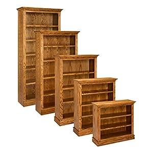 A e solid oak britannia wood bookcase Home furniture on amazon