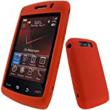 IGadgitz Red Silicone Skin Case Cover for BlackBerry Storm 2 9550 / 9520 + Screen Protector