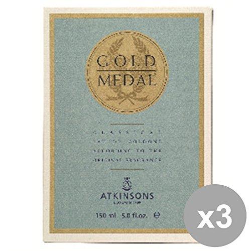 Set 3 ATKINSONS GOLD MEDAL Acqua Di COLONIA 150 Ml. Profumi