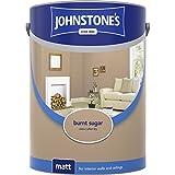 Johnstones No Ordinary Paint Water Based Interior Vinyl Matt Emulsion Burnt Sugar 5 Litre