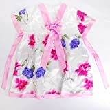 Girls Flowery Korean Hanbok Mini Dress Skirt Pink Available Sizes: 3T, 4, 6