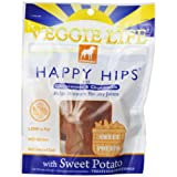 Dogswell Veggie Life Happy Hips Sweet Potato Chew Treats for Adult Dogs, 5-Ounce Pouches (Pack of 6) ~ Dogswell