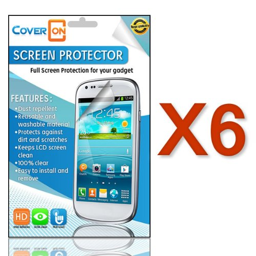 Coveron® 6 Pack Transparent Lcd Clear Screen Protector Shield For Samsung Galaxy Mega 5.8