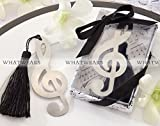 Musical Notes Bookmarks Metal With Mini Greeting Cards Tassels Pendant Gifts Wedding Favors
