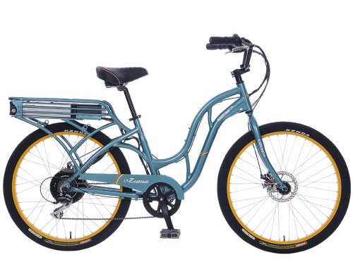 IZIP E3 Zuma - Low Step Beach Cruiser Electric Bicycle - Turquoise