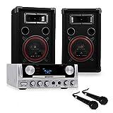 Pack DJ PA ampli karaoke set sono enceinte 500W sub kit