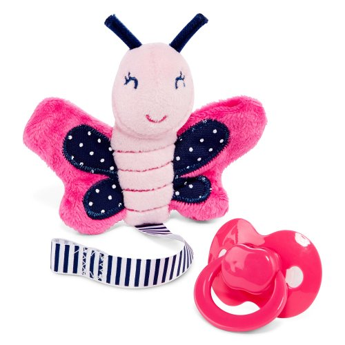 Carter'S Baby Pacifier Clip With Binky (Butterfly) Girl front-142471