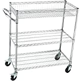 Home-it Rolling Utility Cart On wheels Heavy-Duty Commercial-Grade or kitchen utility cart and Tool cart (NSF)