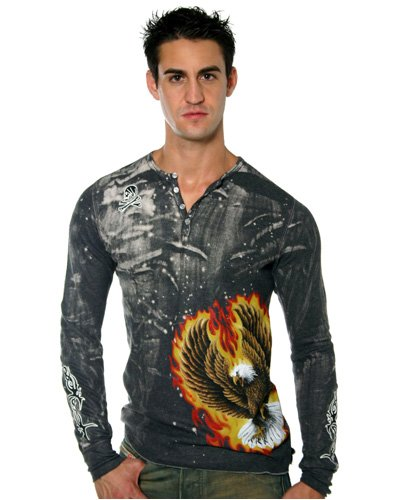 "Buy Andrew Christian ""Firebird"" Henley Shirt"