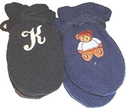 Two Pairs Mongolian Fleece Mittens One with Customer Chosen Monogram