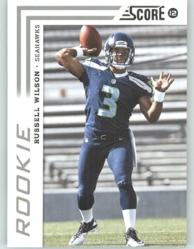 2012 Score Football Card #372 Russell Wilson RC - Seattle Seahawks (RC - Rookie Card)(NFL Trading Card)