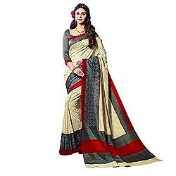 Fashionate Thapa Silk Beige-Grey Printed Saree