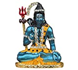 Ratna Handicrafts Shiva idol (7.5x5.5cm,bhabhut )blue