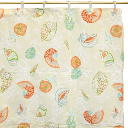 Coral Bay Shower Curtain And Valance By Park Designs - 1