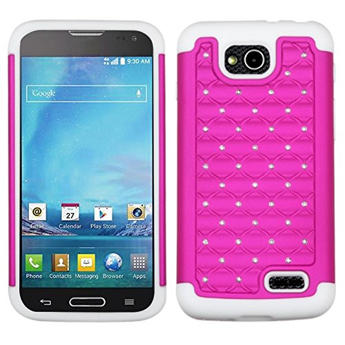 Mybat Fullstar Protector Cover For Lg D415 Optimus L90 - Retail Packaging - Hot Pink/Solid White