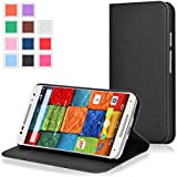 Moto X Case - Exact Moto X 2nd Gen Case [BillFOLD Series] - PU Leather Wallet Flip Cover Case for New Motorola Moto X 2nd Gen 2014 (XT1097)?Black
