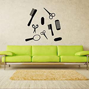 Amazon.com - Wall Decal Decor Decals Sticker Art Barber Hair Salon ...