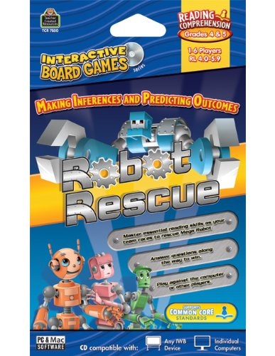 Teacher Created Resources Robot Rescue Interactive Board Game Cd (7850)