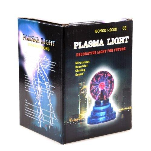 Flashmen USB Plasma Ball Sphere Lightning Lamp Light Science Kid Office Party USA