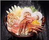 【 築地 の 達人 】 目利き 厳選 ! これぞ 北海道 の 味! 毛ガニ と 秋鮭 の 石狩鍋 (3~5人前) 素材を生かした郷土料理をお召し上がりいただきたいとの思いで試作を重ねて完成しました。