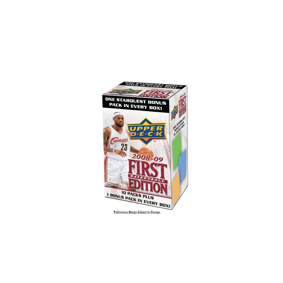 2008/9 Upper Deck First Edition NBA Blaster (11 Packs)