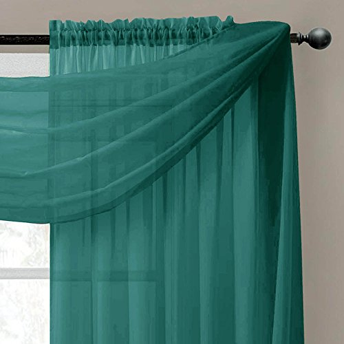 window elements sheer voile curtain scarf 56 x 216