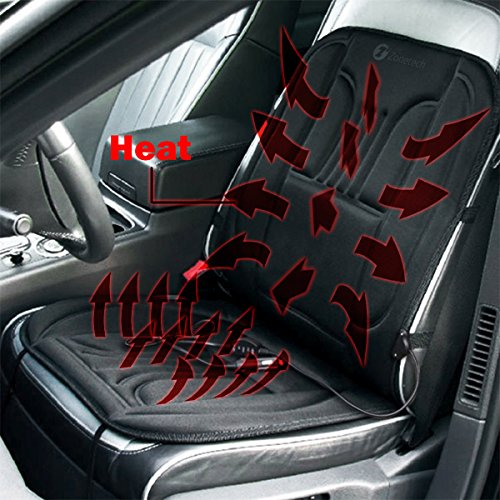 Zone Tech Car Heated Seat Cover Cushion Hot Warmer - 12V Heating Warmer Pad Cover Perfect for Cold Weather and Winter Driving (Truck Seat Heater compare prices)