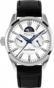 Jacques Lemans Men's 1-1596B Liferpool Moonphase Sport Analog with Moonphase Watch