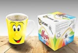 Magic Coffee Mugs Heat Sensitive Color Changing Coffee Mug Good Gift Mug Funny Smiley Face Magic Mug V shape 12 oz