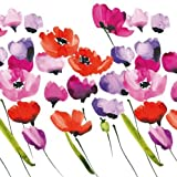 Tulips and Poppies Painterly Luncheon Napkins, Single Pack