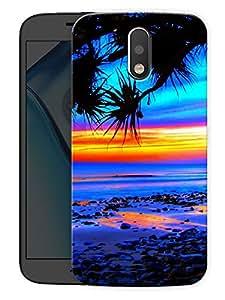 "Beach SunsetPrinted Designer Mobile Back Cover For ""Motorola Moto G4"" (3D, Matte, Premium Quality Snap On Case)"
