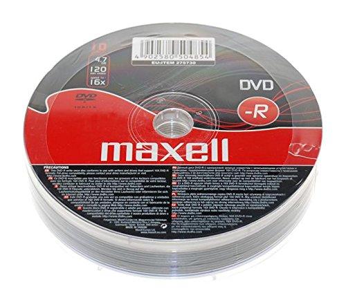 maxellr-dvd-r-dvdr-16x-speed-47-gb-120-min-video-10-pieces-10pcs-blank-media-discs-10-dvds-pack-1-pa