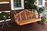 Cedar 5 Foot Marlboro Porch Swing - STAINED- Amish Made USA -Natural