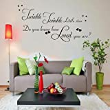 Quotes Song Lettering Words Large Twinkle Twinkle Little Star Do you know how love you are? Stars Heart Wall sticker Decor self-adhesive wallpaper for Baby Children Nursery Room Bedroom Kids Boys Girls Room Decoration DIY Vinyl Love simple quotations Gra