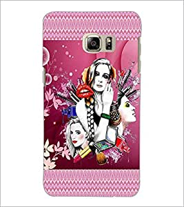 PrintDhaba Girls D-4574 Back Case Cover for SAMSUNG GALAXY NOTE 5 (Multi-Coloured)