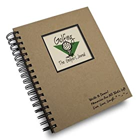 Golfing, The Golfers Journals - Kraft Hard Cover (prompts on every page, recycled paper, read more...)