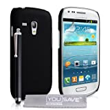 Samsung Galaxy S3 Mini Case Black Galaxy S3 Mini Hard Hybrid Rubberised Back Cover With Stylus Pen