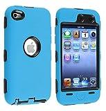 Funda de silicona caucho azul claro híbrido para Apple iPhone iPod Touch 4G de 4 ª generación