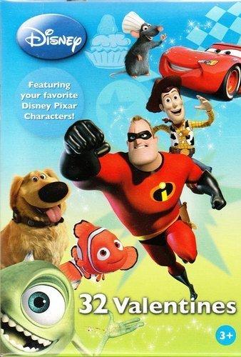 Disney Pixar Valentines (32 in 8 Styles)