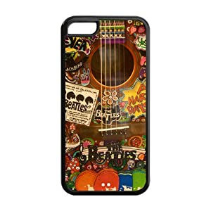 The Beatles Apple iPhone 5c Hard Case Guitar the beatles Honour Back Cover Colorful Cool